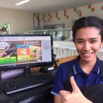 ลูกค้าร้านอาหารที่ใช้โปรแกรมคิดเงินร้าน dmart