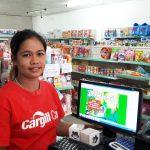 ลูกค้าร้านขายของชำโดยใช้โปรแกรมขายสินค้า dmart
